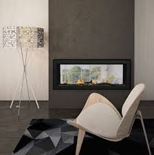 deluxe linear slim see thru gas fireplace