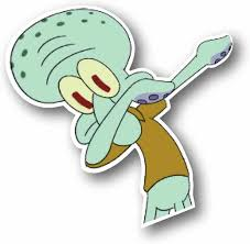 Amazon Com Squidward Dabbing Funny Sticker Vinyl Sticky For Laptop Journal Wall Or Car Great For A Gift Slap It On Your Car Custom Look Computers Accessories