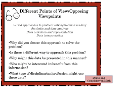 depth and plexity in math envision