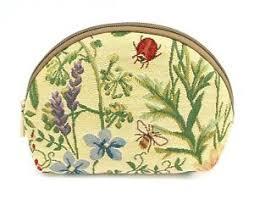 honey bee tapestry travel makeup bag