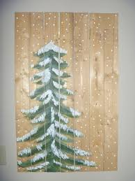 Snowfall In The Forest Fence Panel Painting The Rustic Art Factory Facebook