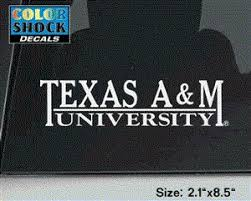Texas A M University Decal 12th Man Shop The Official Store Of The Athletic Department