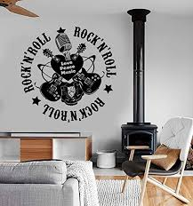 Amazon Com Wall Vinyl Music I Love Rock N Roll Guitar Guaranteed Quality Decal And Stick Wall Decals Home Kitchen