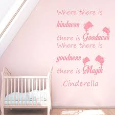 Shop Quotes Cinderella Where There Is Kindness There Is Goodness Wall Art Sticker Decal Pink Overstock 11179664