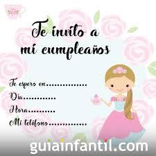 Invitaciones Para Fiestas De Cumpleanos Con Princesas Para Colorear