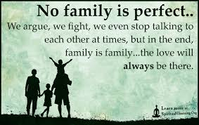 no family is perfect we argue we fight we even stop talking to