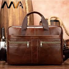 genuine leather briefcase man bags men
