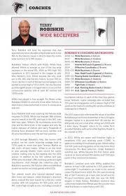 Terry Robiskie, Wide Receivers - Atlanta Falcons Media Guide