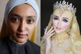 makeup pengantin ala khadijah azzahra