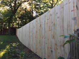 Odd Job Jay 8 Privacy Fence Tapered Down Up The Hill To Facebook