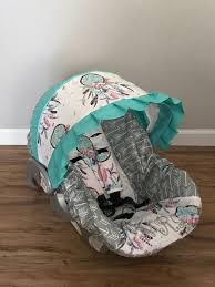 arrows and teal blue ruffle baby infant