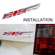 Jeazea Aluminum Alloy Great Britain Uk United Kingdom England Flag Badge Emblem Car Stickers Fit For Vw Audi Mercedes Toyota Kia Aliexpress
