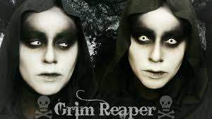 grim reaper halloween makeup you