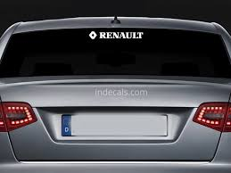 3 X Renault Rs Stickers For Rear Window White Indecals Com