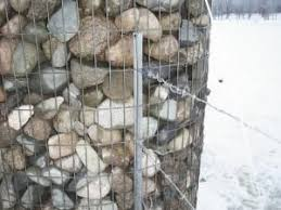 Rock Cages Make Solid Corner Posts Rock Fence Livestock Fence Gabion Wall