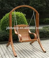 garden patio outdoor wooden swing seat