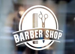 Barber Sign Pole Barber Shop Window Sign Vinyl Decal Sticker Urban Artwork