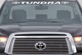Toyota Tundra Windshield Banner Decal Sticker Midwest Sticker Shop