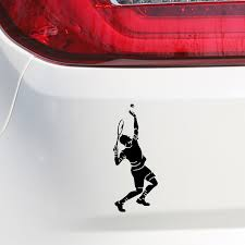 Buy Car Sticker Playing Tennis Pattern Waterproof Removable Vehicle Decal Car Sticks Decals At Jolly Chic