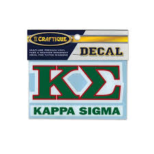 Kappa Sig Greek Letter Decal Kappa Sigma Official Store