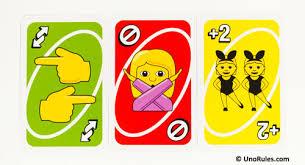 uno emoji rules uno rules