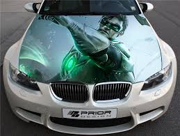 Vinyl Car Hood Wrap Full Color Graphics Decal Green Lantern Sticker Ebay