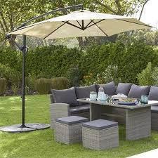 garden table with parasol