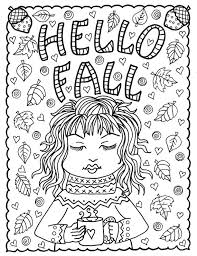 Val Digitale Kleurplaat Pagina Thanksgiving Volwassen Coloring Etsy