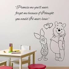Wall Decals Quote Promise Me Decal Winnie The Pooh Vinyl Sticker Baby Room Ms327 Read More At The Image Link Wall Quotes Decals Wall Decals Vinyl Sticker