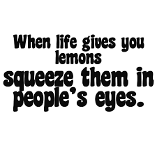 When Life Gives You Lemons Squeeze Them In People S Eyes Vinyl Sticker Car Decal