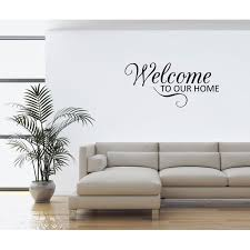 Wall Decal Quote Welcome To Our Home Decal Sticker Home Decor Gd74 Walmart Com Walmart Com