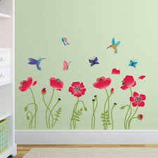 Isabelle Max Radiant Poppies Nursery Wall Decal Reviews Wayfair
