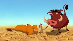 Image result for the lion king 1994 timon and pumbaa find simba