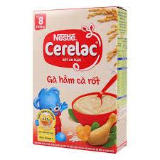 Bột Ăn Dặm Dinh Dưỡng Nestlé Cerelac Gà Hầm Cà Rốt Hộp 200g (Dành ...