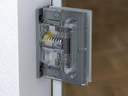 hydraulic glass door hinge biloba by