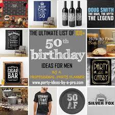 50th birthday ideas for men