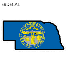 Ebdecal Car Styling Nebraska State Flag For Auto Car Bumper Window Wall Decal Sticker Decals Diy Decor Ct6646 Aliexpress