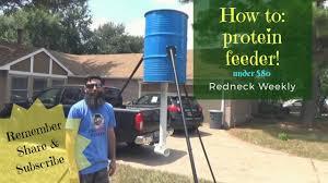 build a 55 gallon drum protein feeder