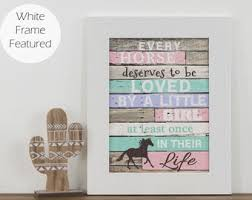 Horse Decor For Girls Room Etsy