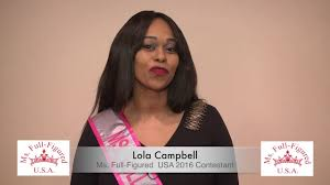 Lola Campbell Ms. Full-Figured USA 2016 Contestant - YouTube