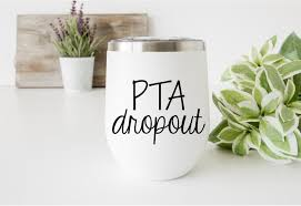 Pta Dropout Car Decal Car Sticker Mom Decal Wine Decal Etsy