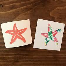 Starfish Cup Decal Sticker Beach Decal Starfish Sticker Etsy