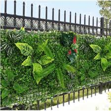 Plant Panels 24 X16 Artificial Hedge Fence Privacy Screen Lawn Indoor Outdoor Wall Floor Realistic Green Plants Garden Decor Shopee Philippines