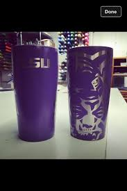My New Yeti Cup Geaux Tigers Decals For Yeti Cups Yeti Cup Cute Coffee Cups
