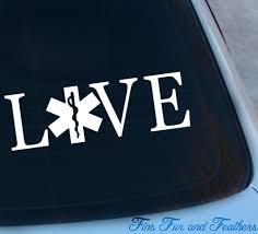 Love Emt Decal Paramedic Decal Ems Decal Vinyl Sticker Etsy Emt Paramedic Emergency Medicine