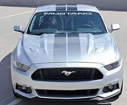 Amazon Com Jis Decals Generic Mustang Windshield Decal 40 Inch Wide Silver Automotive
