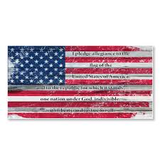 Pledge Of Allegiance Distressed Us Flag Sticker Decal Vinyl For Laptop Tumbler Car Notebook Window Or Wall Funny Novelty Decals Walmart Com Walmart Com