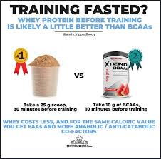 fasted take whey protein