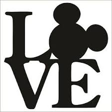 Mickey Mouse Love Large Vinyl Decal Sticker Choose Color Size Disney Ebay