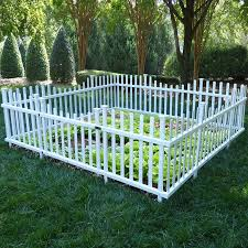 7 8 X 7 6 Pet Or Garden Vinyl Enclosure Picket Fence With Gate Small Backyard Landscaping Small Garden Fence Backyard Fences